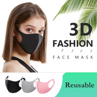 100 Pcs Fashionable Sponge Face Mask Washable Breathable Mouth Mask Reusable PM2.5 Anti Pollution Wind Proof Mouth Cover For Adult Children