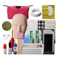 False reeLashes 19 в 1 Учебное оборудование Набор ресниц Удлинитель для прививки практика Curl Clue Tweezer Инструменты Установить сумку для глаз
