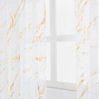 """Tenda tenda da 40 """"X79 Modern Transparent Doccia Tende da doccia Stampa marmo Schermo fresco Schermo impermeabile Moschewpolyester per il bagno"""