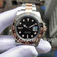 2018 Basel Dünya Yeni Model 2813 126711CHNR 126711 GMTII Gül Altın 40mm BP Fabrika 2813 Otomatik Erkek Saatler Saatı Dalış İzle