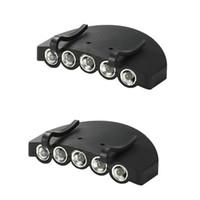 Neue Nachtfischen Scheinwerfer 5 LED Hut Clip Täglich Batteriebetriebene Kappe Beleuchtung Outdoor Camping Werkzeug