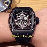 4 Color Cheap New PVD Black Steel Case RM052 Skeleton Hollow...