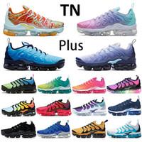 2020 Yeni koşu ayakkabıları TN artı olmak gerçek yaban arısı ABD aktif fuşya limon kireç daldırma boya nane turuncu siyah beyaz spor ayakkabı