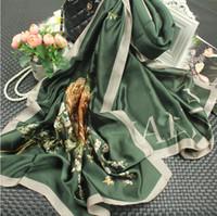Летняя осень мода банндана роскошный шарвы женщина бренда орла печать шелковый шарф женские шали высокого качества печати хиджаб 180 * 90см микс дизайн