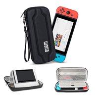 BUBM Tragetasche für Nintendo Switch, Hartschalen-Speicher-Fall mit Standplatz-Halter