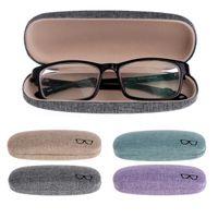 Tkanina lniana twardych okularów Case Okulary ochronne Case Metalowe Okulary Okulary Okulary Ochraniacz Hard Box Eyewear Akcesoria