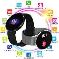 Pulsante Smart Touch Wristband Heartrate sanguigna La pressione sanguigna ossigeno FitnessTracker impermeabile Bracciale intelligente Guarda per iOS Android