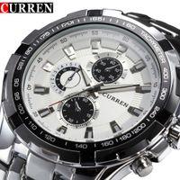 Luxus volle stahluhr männer business casual quarz armbanduhren militär armbanduhr wasserdicht relogio gutes geschenk