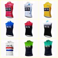 INEOS ekibi Bisiklet Kolsuz forması Yelek 2020 Erkekler Nefes MTB Yol Bisikleti En Döngüsü Giyim U20030901 çabuk kuruyan