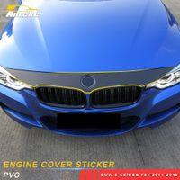 Auto Accessoires de voiture en fibre de carbone Motif moteur Top PVC autocollant de protection Couverture bricolage Décoration pour BMW Série 3 F30 2011-2019