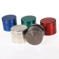 핫 판매 6 개 색상 아연 합금 허브 담배 분쇄기 SharpStone 그라인더 컬러 4 층 분쇄기 분쇄기 40mm의 50mm에서 55mm의 63mm 5915S