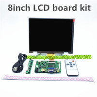 8 polegadas LCD 1024 * 768 tela do monitor HJ080IA-01E HE080IA-01D placa de unidade HDMI + VGA + 2AV para Raspberry Pi PC Windows 7/8/10