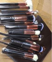 Brosses Ensemble Cosmétiques professionnels Kits de brosse Fondation Fondation Badreshadow Kit Kit Maquillage Outils de maquillage 15pcs / Set