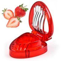 الفراولة القطاعة البلاستيك أدوات نحت الفاكهة سلطة القاطع أدوات المطبخ اكسسوارات أدوات القاطع المقاوم للصدأ شفرة القطاعة