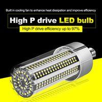 Super Bright LED E27 Bulbo de maíz 80W-200W LED Lámpara 110V 220V Smart IC E39 E40 Potencia grande para la iluminación del almacén del patio al aire libre