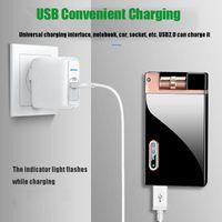 hot Gravity Induction Doppel Arc Lighter Shakes kreative USB-windundurchlässiges Lade Lighter Personalisierte Kundenspezifisches Drucken Raucherzubehör