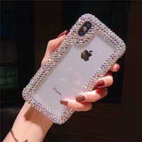 Bling progettista del diamante della cassa del telefono di iPhone 11 caso molle di TPU strass glitter girl stile Coque per iPhone 6 7 8 B