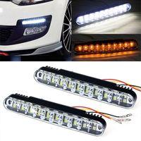 2x 20 LED Car Daytime Running luz DRL Daylight Chefe Fog lâmpada acender as luzes Único Auto 12V impermeável para Trailer SUV Truck