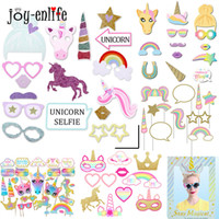 Anniversaire Unicorn Party Photo Booth Props photo masque drôle Accessoires bébé Douche Fournitures Photobooth Props Party