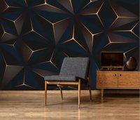 декоративные обои современный минимализм золотые линии абстрактные геометрические обои ТВ фон стены