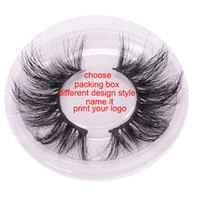 60 design 3D MINK hair nutural handcraft false eyelashes 1 p...
