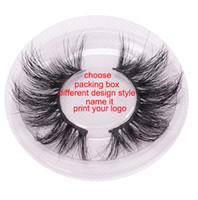 60 дизайн 3D MINK волосы nutural ручной работы накладные ресницы 1 пара не в логотипе жесткий пластиковый корпус завода сравнить качество горячего надувательства