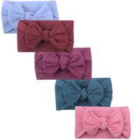 Accessoires de cheveux Bandes pour bébé Girls Unisexe Headwear Kids Mignon Broad Bow Knot Knot Turban Cadeaux 5pcs # G955