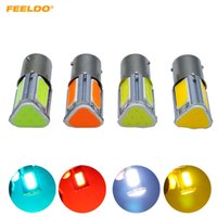 Feeldo 10pcs Car 1156 Ba15s 4-side COB 42SMD Auto 42ed Turn Lampa LED Light Light LED 4-Color # 5318 \ t