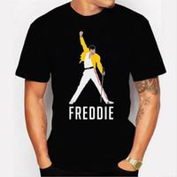 Yeni Stil Erkek Tişörtleri Freddie Cıva Kişilik Baskı Sıcak Satış Tipi Yuvarlak Yaka Rahat Tarzı Erkekler Tee
