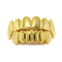 Teeth Grillz Jewelry Unisex Fashion 18K Gold Plated Body Jew...