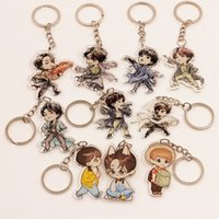 BTS Cartoon Acrlic Figure Keychain Keyring Key Holder Bangta...