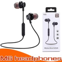 Magnetic Earphone M6 Bluetooth Headphone Bluetooth 4. 2 Outdo...