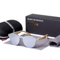 2018 BARCUR Kedi Göz Güneş Gözlüğü Bambu Erkekler Yeni Kedi Göz gözlük kadınlar için pra Güneş gözlükleri Googles Kırmızı Güneş Gözlüğü Balıkçılık gözlük