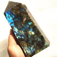 1,5 кг Большой размер Натуральный Лабрадорит Кварцевый Обелиск Большой Кристалл Палочка Кварцевый Кристалл Драгоценный камень Башня Reiki Gealing