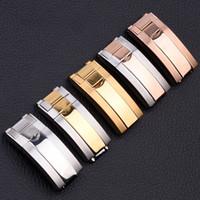 16mm x 9mm NOUVEAU Haute Qualité en acier inoxydable Bracelets de montres bracelet boucle de déploiement fermoir pour bandes ROL