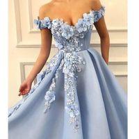 Designer Plus Size Prom Dresses 2020 Off the Shoulder Lace Feito à Mão Flores Lace apliques Sweet 16 robe de mariée vestidos de noite E020