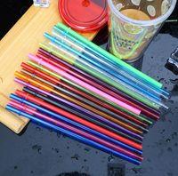 يمكن التخلص منها القش 260 * 6MM 9 الألوان حزب البلاستيك الشرب القش 10.5inch قابلة لإعادة الاستخدام القش لطويل القامة نحيل البهلوانات 4000pcs T1I1755
