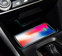 100% Высокое качество Специальный бортовой QI беспроводной зарядки телефона Pad Панель Автомобильные Аксессуары Для Honda Civic 10th 2016 2017 2018