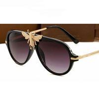 Bee Retro Gafas de sol Hombre Mujer Moda Pantalones UV400 Marca Vintage gafas de diseñador Oculos 47809 gafas de sol de diseñador