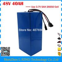 Dazio doganale libero 2000W 48V batteria al litio Bici batteria al litio 48v 40ah uso 5000 MAH 26650 cella 50A BMS con caricatore 54,6 V 4A