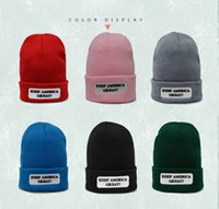 6 Colors Polyester KEEP AMERICAN GREAT Winter Hats Adult Chi...