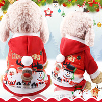 Christmas Dog Clothe hoodie Winter Santa Pet Apparel Dog Jac...