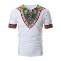 QNPQYX 2019 África do vestuário Africano Dashiki tradicional Dashiki Maxi Man Camisa Maxi T Shirt Verão T-shirt roupas de homem T058 TAAE