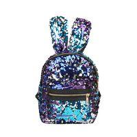 Bébé filles oreilles de lapin sacs à dos de bande dessinée paillettes enfants Mini lapin épaules sac Boutique mode Voyage sac à main 6 couleurs C5993