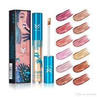HUAMIANLI 12 Options de couleur Brillant à lèvres Shimmer Liquid Mat Maquillage Batom Rouge à lèvres métallisé Lèvres durables Hydratant Brillant à lèvres