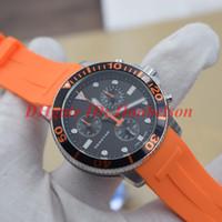 2020 Углеродные волокна ободок мужские Автоматические часы Нейлон кожаный ремешок Наручные часы 43мм сталь черный PVD Case Folding Застежка UHREN