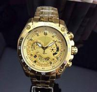 классическая мода бесплатная доставка EF-550 EFR серебряные золотые часы дизайнер мужские Стальной браслет кварцевые мужские часы