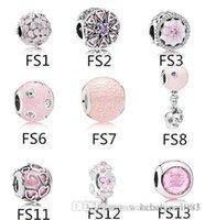 أصيلة 925 فضة يناسب باندورا سوار الخرز الوردي سحر لأغامى الأوروبي سحر سلسلة قلادة الأزياء diy مجوهرات