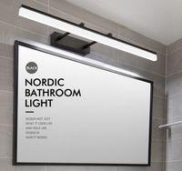 Modern Banyo Siyah Gümüş Altın LED Vanity ışık Gerilebilir Duvar lambası kapalı yatak odası ayna Aydınlatma Duvar Lambası aplik armatür LLFA