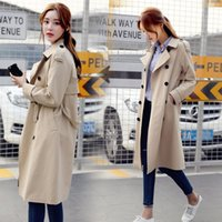 Business-Stil mit Gürtel Frauen Casual Long Trenchcoat 2019 Frühling Herbst Korean Style Oversize Khaki Windbreaker Female